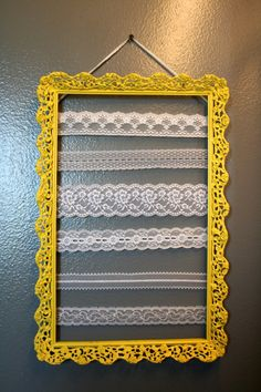 DIY Earring Holder - I'm sure I've posted misc posts with a variety of earring organizers/holders before, but I'm going to just post this one on its ownsome so I can get off my butt and make something for my stud earrings that are lonely and have nowhere to go.