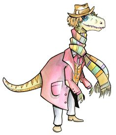 """11 DOCTOR WHO's Reimagined asDinosaurs - """"Fourth Doctor"""""""