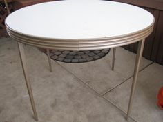vintage mid-century folding card table. $100.00, via Etsy.