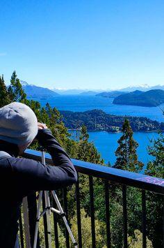 Enjoying the views from Cerro Campanario in Bariloche, Argentina