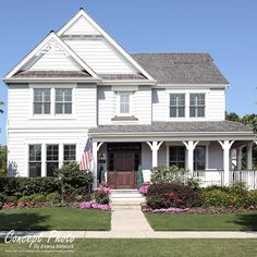 Colonial House Exteriors, Colonial Exterior, Modern Colonial, Dutch Colonial, New England Style Homes, Homes England, Cape Cod Exterior, Pvc Moulding, House Siding