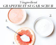 3-Ingredient Grapefruit Sugar Body Scrub