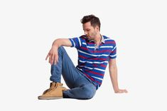 Foreign male model sitting on the floor, Fig Male Model Shooting, Manhunt Clothes Taobao Figure PNG Image