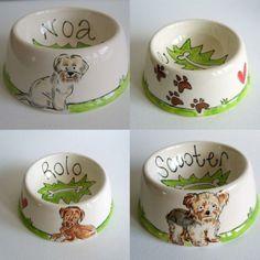 Personalized Ceramic Dog or Cat Bowl by Purple Glaze Pottery | Hatch.co
