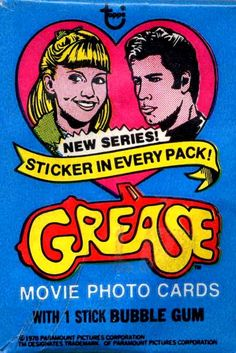TRADING CARDS & STICKERS -- Grease (Movie) -- TRAILER:  https://www.youtube.com/watch?v=f2CCEixOVVU