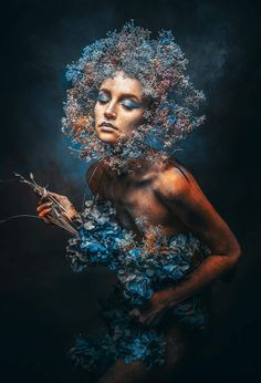 Art photography by Stefan Gesell. [Blue Spring 2018 - Retouched photography by Fantasy Photography, Creative Photography, Fine Art Photography, Fantasy Portraits, 3d Fantasy, Foto Art, Art Model, Aesthetic Pictures, Belle Photo