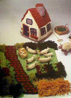 Vintage Crocheted Old MacDonald Farm Pattern