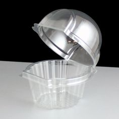 Muffin Packaging. QPEY 50 x Plastic Single Individual Cupcake Muffin Dome Holders Cases Boxes Cups Pods.