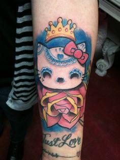 Hello Kitty Skull Tattoo