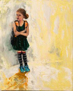 """""""School Girl"""" 10""""x8"""" Oil on Board by Jamie Peterson"""