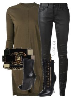 """""""Untitled #2694"""" by whokd ❤ liked on Polyvore featuring DRKSHDW, Rick Owens, Chanel, Giuseppe Zanotti, women's clothing, women, female, woman, misses and juniors"""