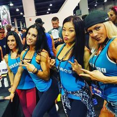 Muscle Egg ladies rocking the booth at @mrolympiallc  Today  samples all day!! @ariashine @eatwell2live @ashleyrose03 and the rest of the Muscle Egg team! #muscleegg #teammuscleegg #olympia #olympia2016 #lasvegas #vegas #eggwhites #fitgirls #fitchicks #share #fitness #figure #bikini #ifbb #npc #athletes #drinkit #cookit #loveit #girlpower #girls girlswithmuscle