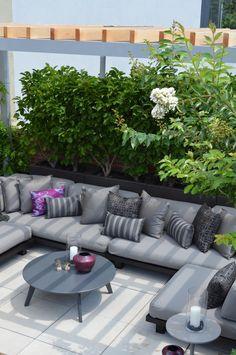 Financia District penthouse, NYC. Jeffrey Erb Landscape Design.