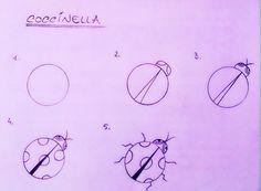 Disegnare una coccinella in 5 passi...e poi potete colorare