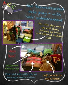 Our deconstructed roleplay area, complete with simple 'vets' enhancement box…
