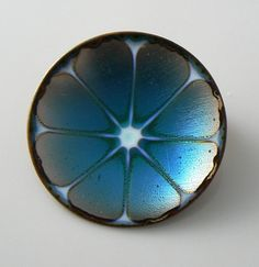 Vintage Hogan Bolas Brooch Pin Blue Enamel on by 242VintageLane, $51.00