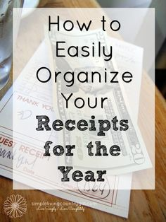 Having an organized receipt system will not only save you time but money as…