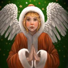 Praying Christmas Angel by Karyn Lewis