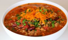 clean--turkey chili