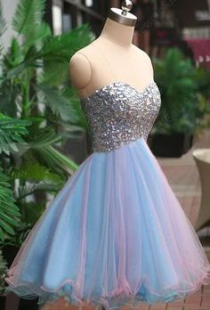 Rhinestone Homecoming dresses, Tulle Homecoming dresses, Cute Homecoming dresses, Short Homecoming dresses, Custom prom dresses, YY127