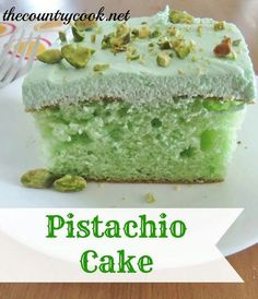 Of the 5 different cakes in our wedding cake, pistachio was my fave!