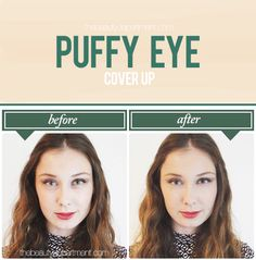 How To Conceal BOTH Under-Eye Dark Circles AND Puffiness...it takes 2 different colors & approaches to cover both.
