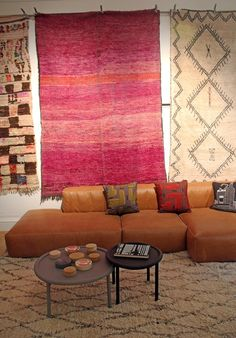 Our Emily's House London rugs in the HAY and WRONG for HAY showroom St James' Park, London.