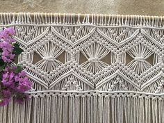 Large macrame wall hanging, macrame headboard, Home Decor tapestry, Bohomian bedroom, boho wall art, Wedding decor, macrame wedding backdrop by WallKnot on Etsy https://www.etsy.com/au/listing/546031823/large-macrame-wall-hanging-macrame