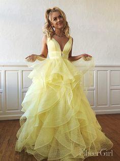 a8b29abd3d Multi-layered Polka Dot Organza Prom Dresses Long Sweet 16 Dress ARD2002