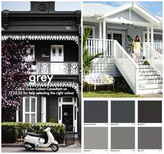 Grey house exterior color schemes grey house colors amazing exterior paint colours on 9 grey house . Exterior Paint Combinations, House Exterior Color Schemes, Exterior Paint Colors For House, Paint Colors For Home, Exterior Colors, Paint Colours, Color Combinations, Grey House Paint, Grey Paint