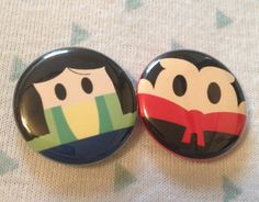 Mulan inspired 1 inch pins! Perfect for park bags, lanyards, and jackets!