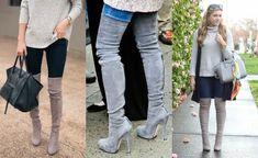 Blog Femina - Modéstia e Elegância: Over the knee cinza - a queridinha das blogueiras de moda