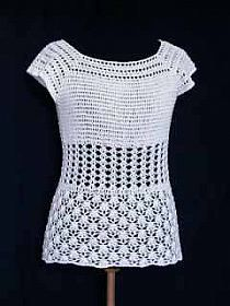 Cute and simple crochet top - easy to make