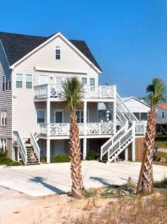 Our home is oceanfront in Carolina Beach, North Carolina. It is an older style cottage built in the 1940's and we added a third floor and renovated in 2003. There are great views with beautiful porches and decks overlooking ...