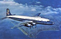 Olympic Airways Card postal Douglas DC-6B