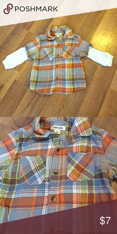 18 month Button Down Fleece Adorable fit!!! Make your own Bundle and Save 💸 Cherokee Shirts & Tops Button Down Shirts