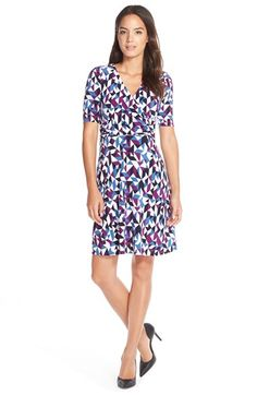 Donna MorganPrint Jersey Fit & Flare Dress available at #Nordstrom