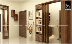 Home center Interiors creating stunning and elegant interiors .We reach our clients' expectations and needs by bringing great design home. Contact Us: 91 9495543200 Room Partition Wall, Living Room Partition Design, Living Room Tv Unit Designs, Pooja Room Door Design, Room Partition Designs, Ceiling Design Living Room, Living Room Divider, Wood Partition, Wardrobe Door Designs