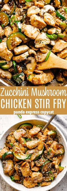 Zucchini Mushroom Chicken Stir Fry - Fresh and delicious chicken stir fry bursti. - Zucchini Mushroom Chicken Stir Fry – Fresh and delicious chicken stir fry bursting with flavor in - Easy Dinner Recipes, Easy Meals, Easy Recipes, Zucchini Dinner Recipes, Stir Fry Recipes, Beef Recipes, Keto Stir Fry, Zuchinni Recipes, Vegetarian Recipes For Families