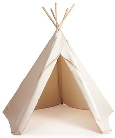 Natural tipi teepee play tent by Danish brand Roommate organic cotton adventure themed toy Childrens Play Tents, Teepee Play Tent, Hippie Man, Wall Mounted Coat Rack, Cozy Place, Camping With Kids, Roommate, Baby Shop, Kids House