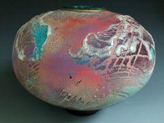 "james haggerty pottery   Steven Forbes DeSoul, Raku pot 11 x 10"""