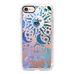 Galaxy Stars Sun Moon Black Pattern Boho Bohemian Hippy New Age Blue -... ($40) ❤ liked on Polyvore featuring accessories, tech accessories, iphone case, galaxy iphone case, iphone cases, print iphone case, iphone cover case and apple iphone cases
