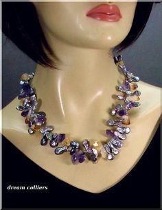 Perlenketten - Schweifperlen Collier - Unikatcollier - ein Designerstück von Dream-Colliers bei DaWanda