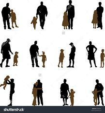 Image result for father and daughter silhouette