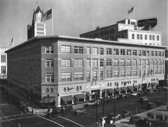 The HC Capwell department store in downtown Oakland (1932) Today the location of the Sears building and soon-to-be Uber offices.