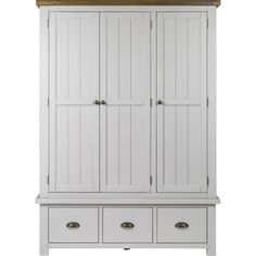 Browse through the largest collection of home design ideas for every room in your home. Three Door Wardrobe, Solid Wood Wardrobes, Clothes Drawer Organization, Pottery Barn Bedrooms, Armoire Dresser, Home Focus, Shaker Furniture, Hanging Storage, Bedroom Sets