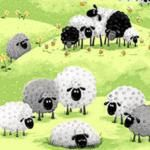 Melindas Fabric Shop - Susybee Susybee Lewe the Lamb Growth Chart Panel *. Funny Sheep, Sheep Crafts, Sheep Art, Lord Is My Shepherd, Sheep And Lamb, Fabric Shop, Diy Arts And Crafts, Applique Quilts, Eucharist