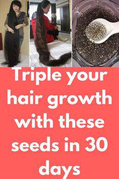 Triple your hair growth with these seeds in 30 days Today I will show one miracle hair growth remedy which chia seeds. Chia seeds contains 23% of protein that helps our hair to grow faster. Copper and Zinc are important minerals which are found in chia seeds. Copper helps in cutting down thinning of hair while zinc helps in repairing damage and preventing scalp infections. Part from … #naturalthinninghairsolutions