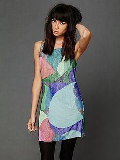 FREE PEOPLE kaleidoscope beaded dress