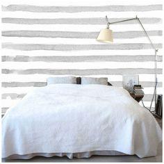 Watercolor Stripe Self Adhesive Wallpaper